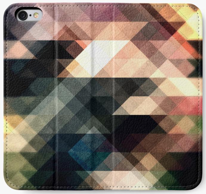 Textured Geometric iPhone Wallet