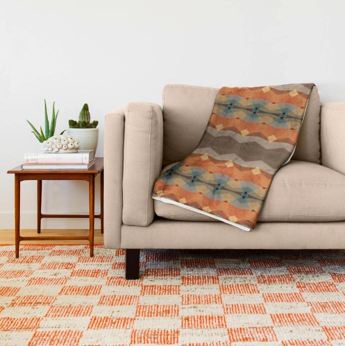 Autumn Pattern Throw Blanket