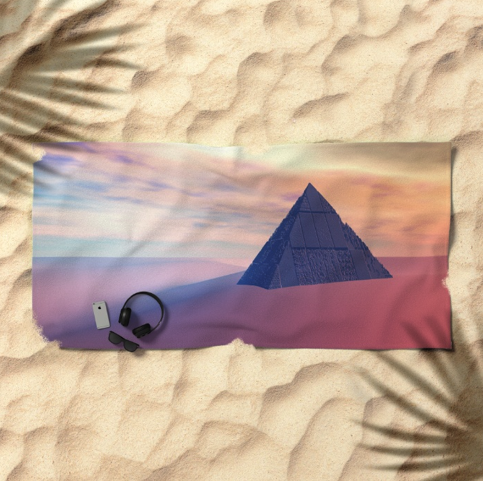 Desert Pyramid Beach Towel