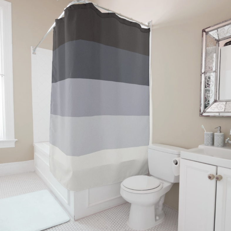 Retro Stripes Shower Curtain