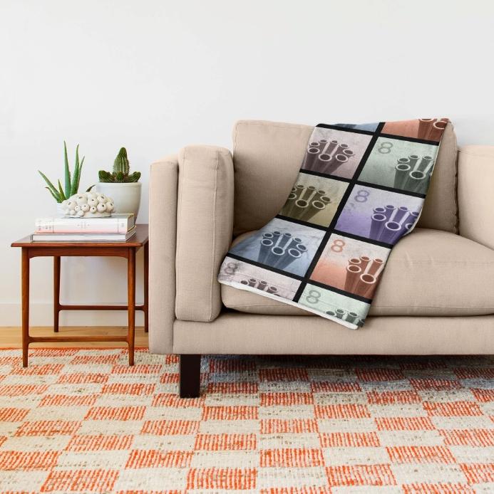 Pop Art Graphic Throw Blanket