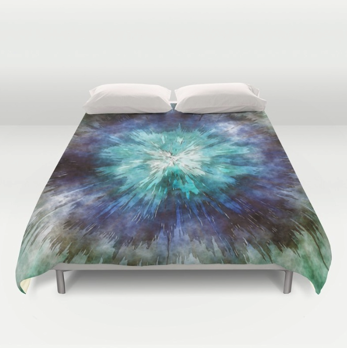Hues of Blue Tie Dye Duvet Cover