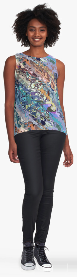 Colorful Women's Contrast Top