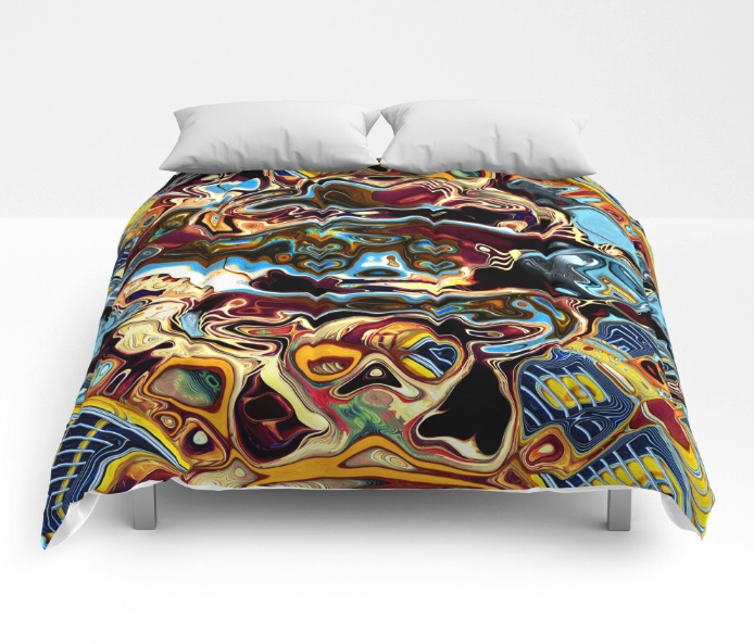 Chaotic Abstract Comforter