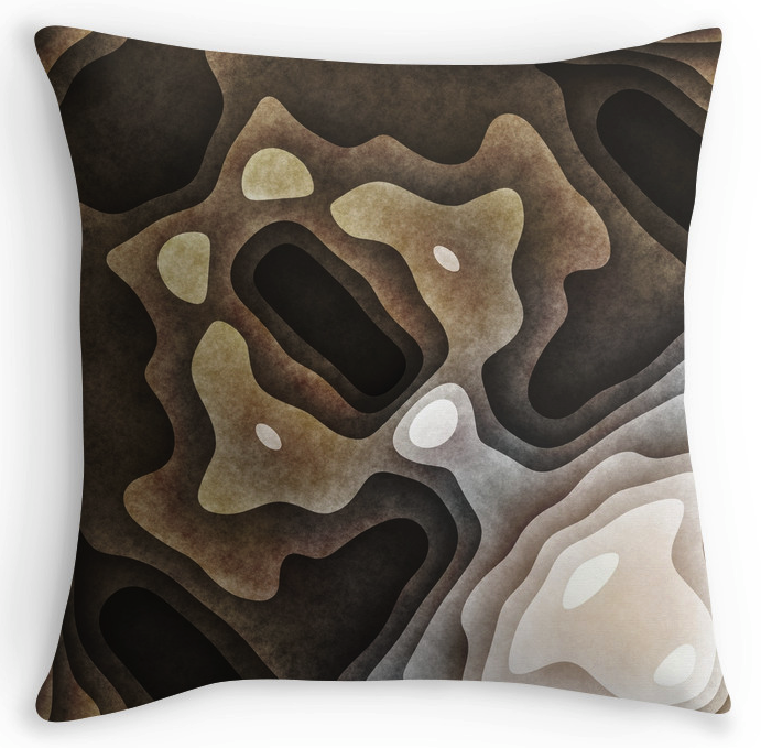 Earthen Layers Throw Pillow