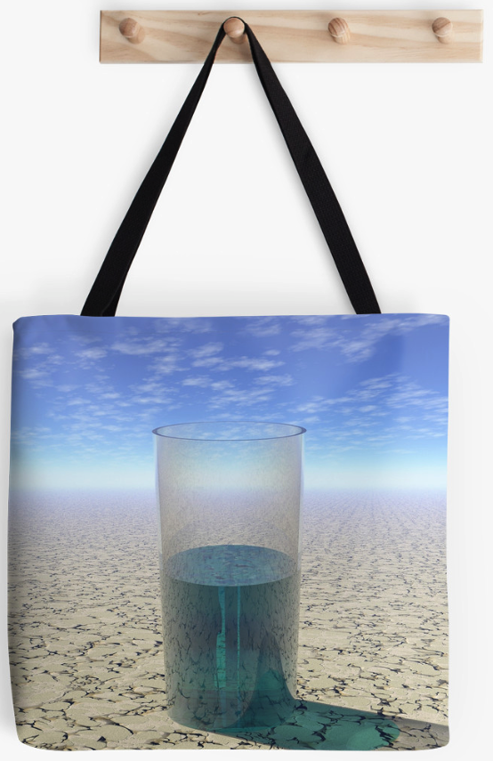 A Glass of Water Tote Bag