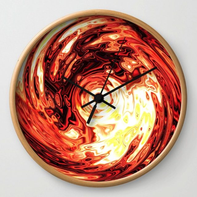 Liquid Metal Wall Clock