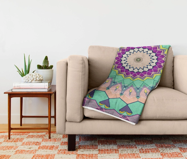 Colorful Pattern Throw Blanket