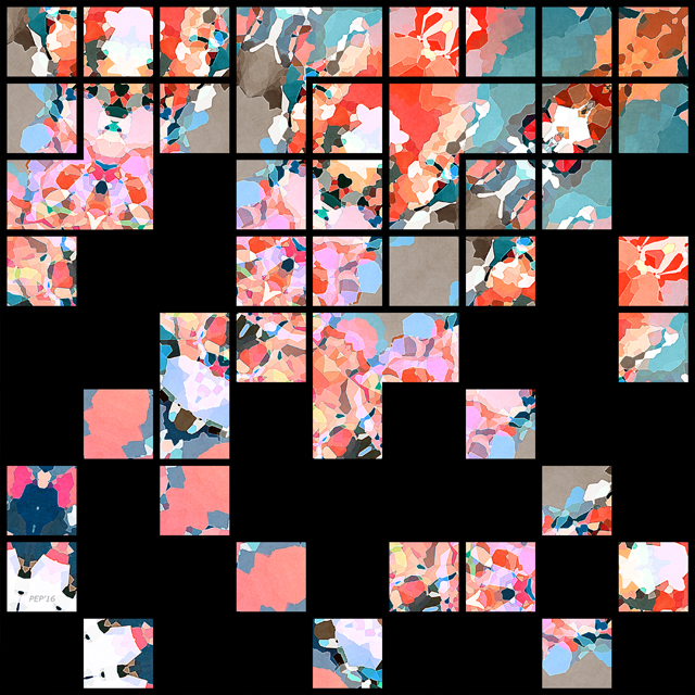 Abstract Grid of Colors