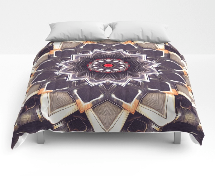 Abstract Kaleidoscope Flower Comforter