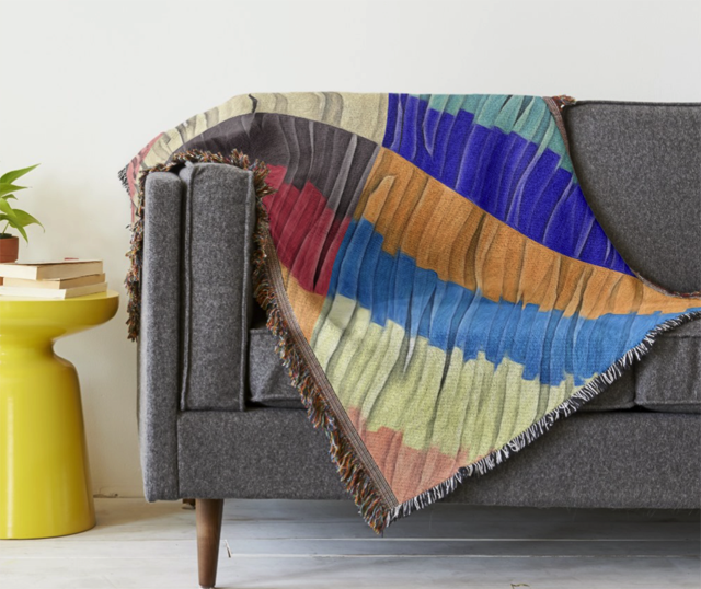 Colorful Collage Throw Blanket