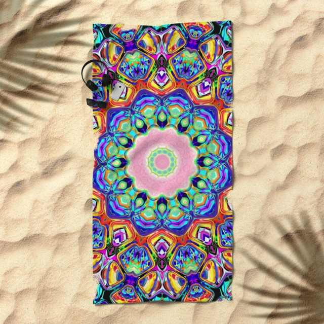 Colorful Pattern Beach Towel