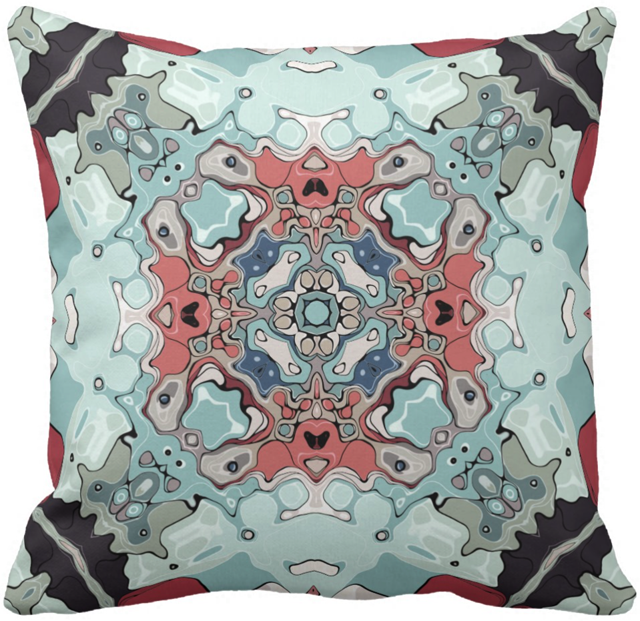 Abstract Pastels Pattern Throw Pillow