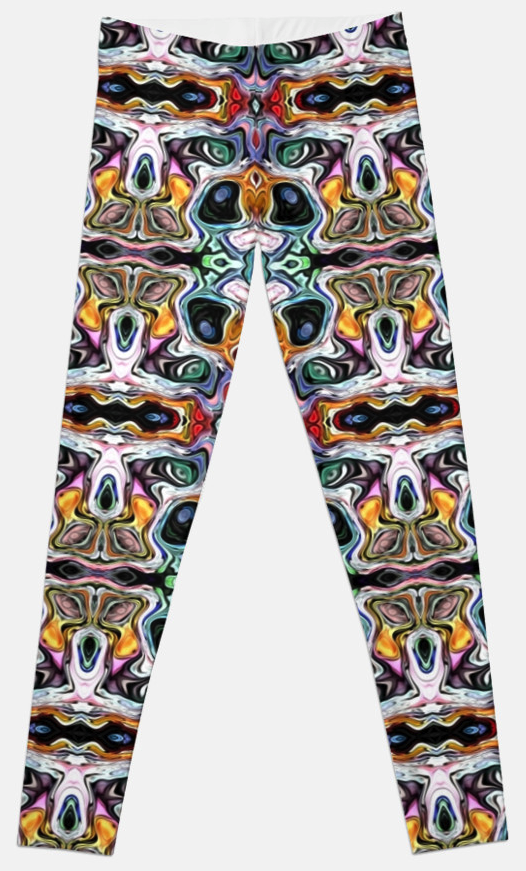 Colorful Abstract Pattern Leggings
