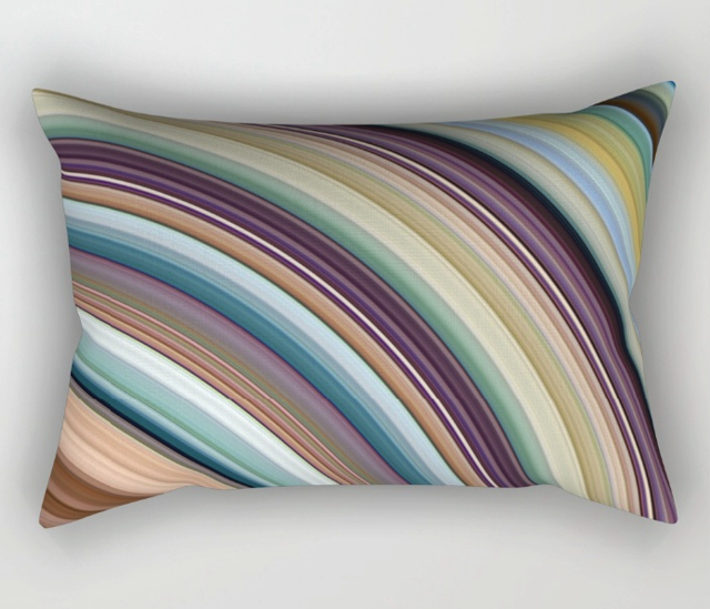 Colorful Planetary Rings Rectangular Pillow