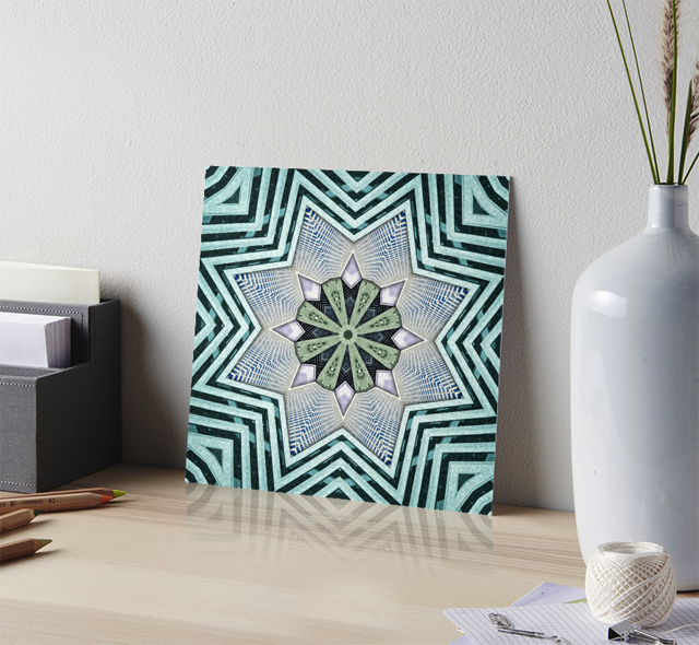 Abstract Turquoise Gallery Board