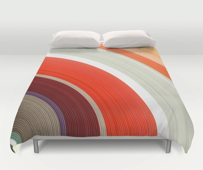 Shades of Orange Rings Duvet Cover