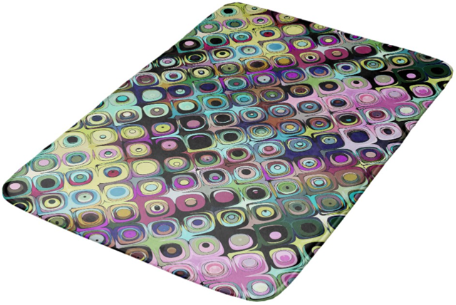Colorful Abstract Pattern Bathroom Mat