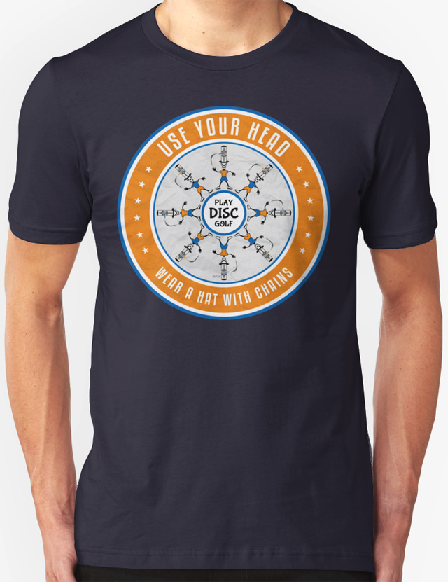 Use Your Head Disc Golf T Shirt Perkins Designs