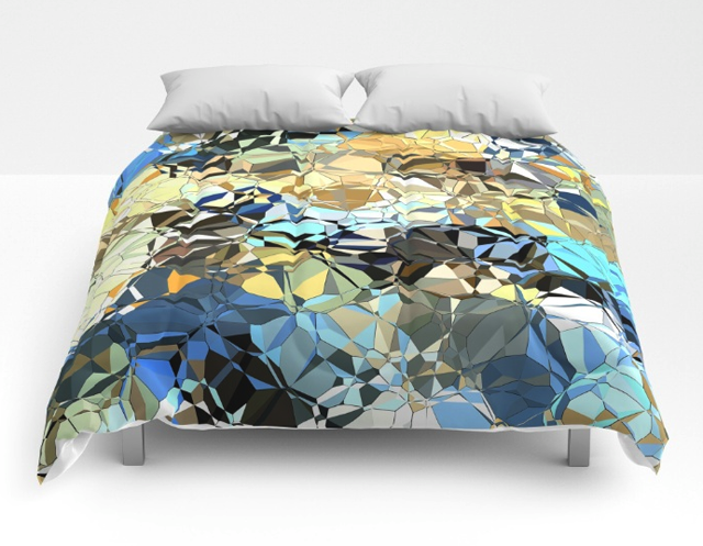 Blue And Beige Pattern Comforter