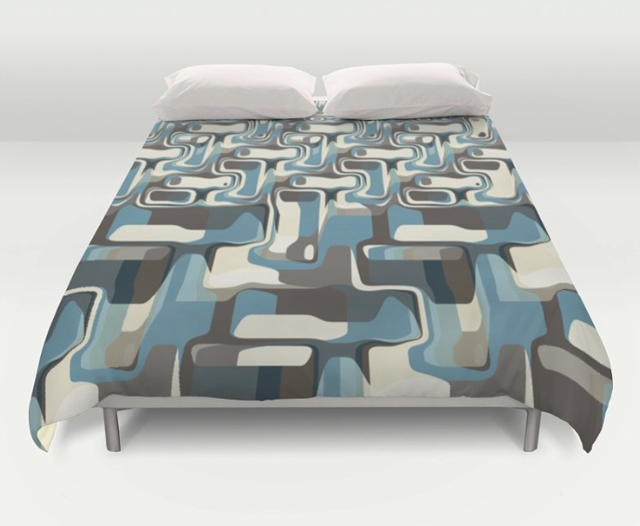 Abstract Shapes Metamorphosis Duvet Cover