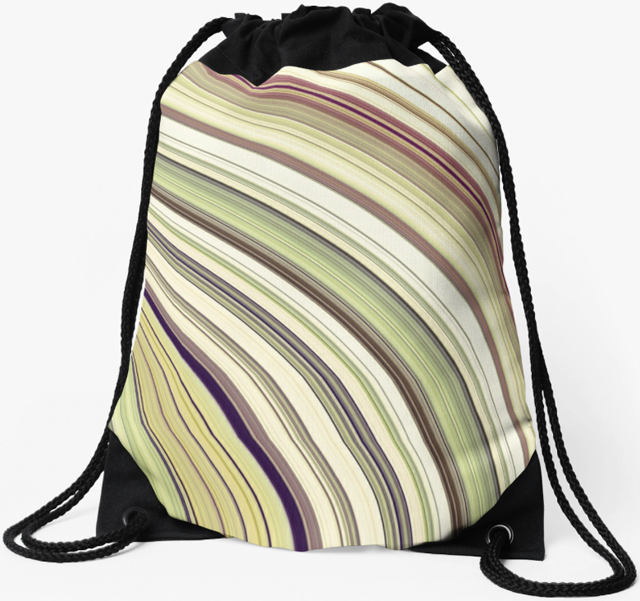 Colorful Rings Abstract Drawstring Bag