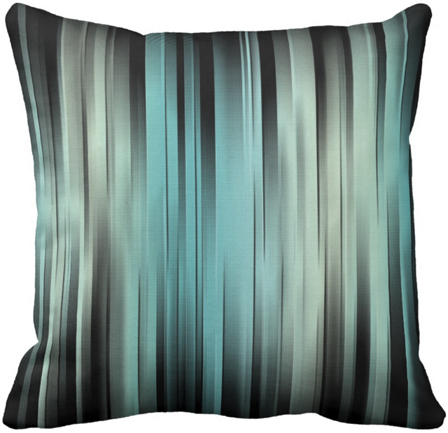 Abstract Blue And Green Throw Pillow