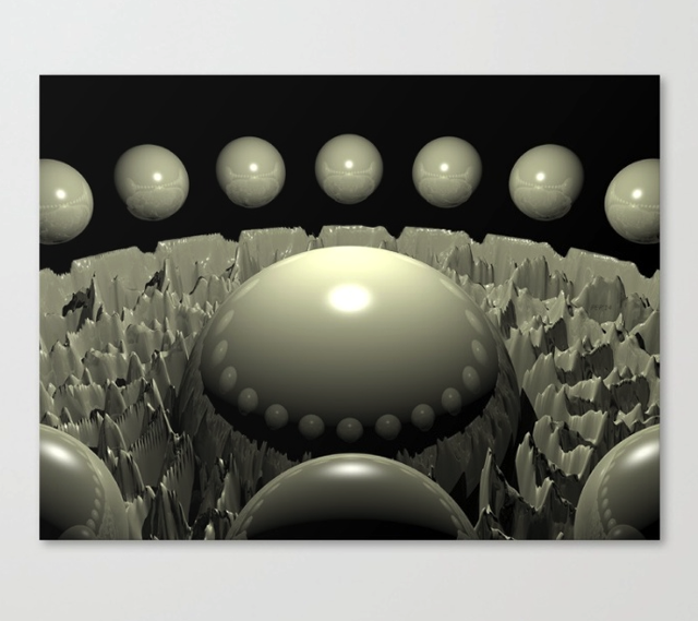 Orbiting 3D Spheres Canvas Print