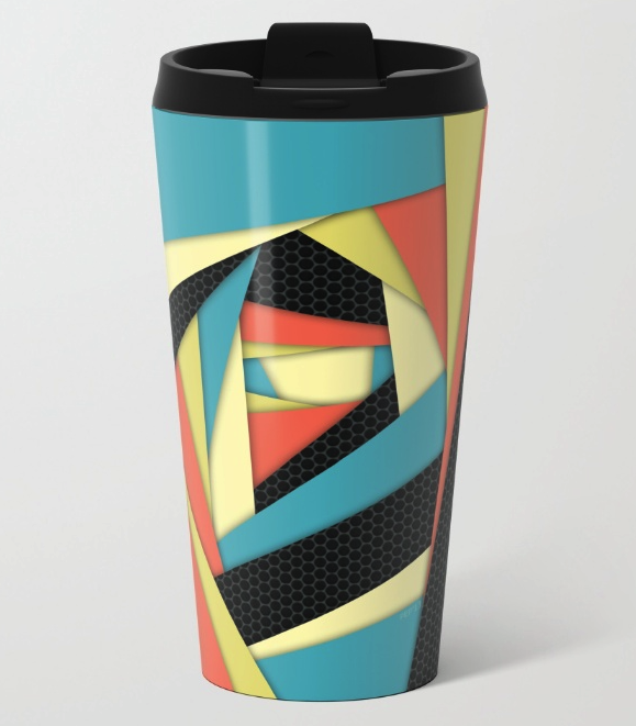 Colorful Layers Metal Travel Mug