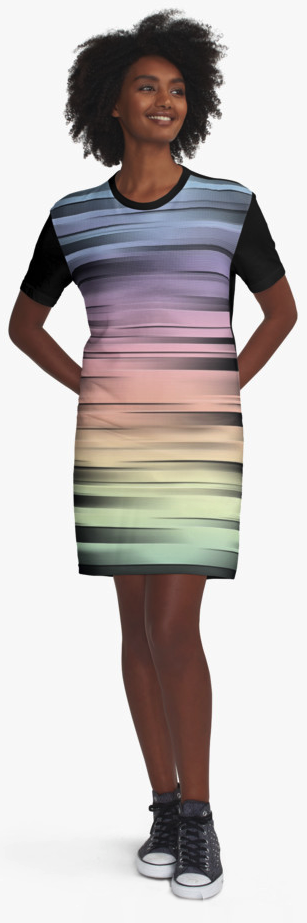 Spectral Abstract Graphic T-Shirt Dress