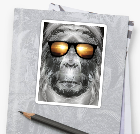 Bigfoot In Shades Stickers
