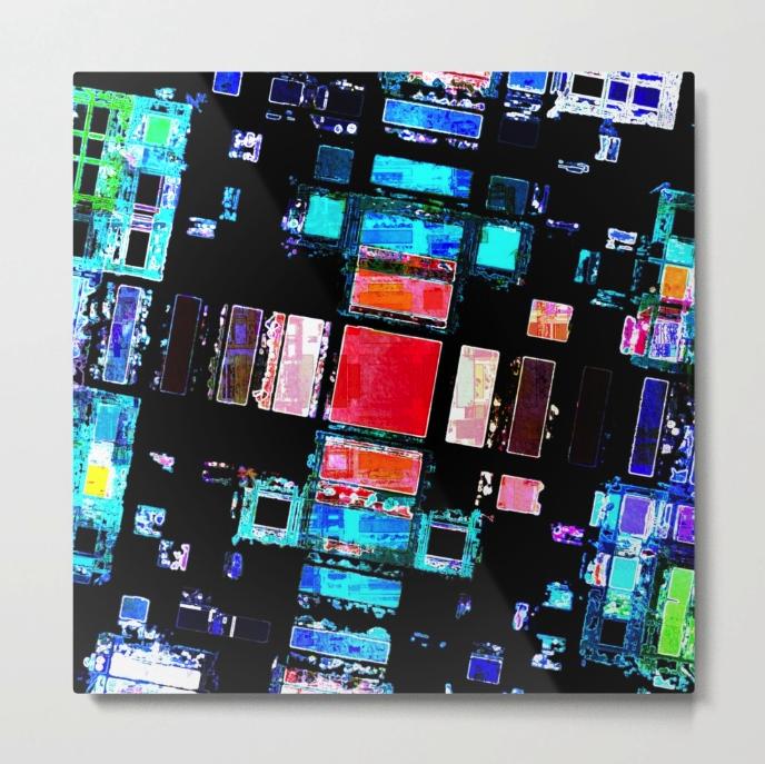 Abstract Geometric Art Metal Print