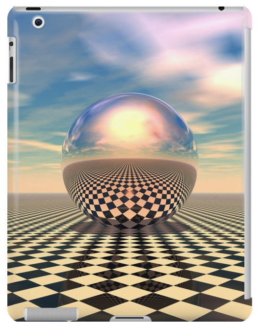 Surreal Sphere Checkerboard iPad Case