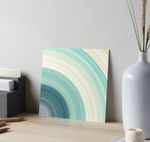 Geometric Blue Rings Gallery Board