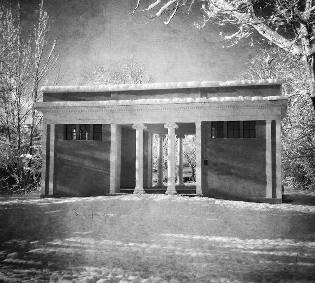 Vintage Black And White Pillars