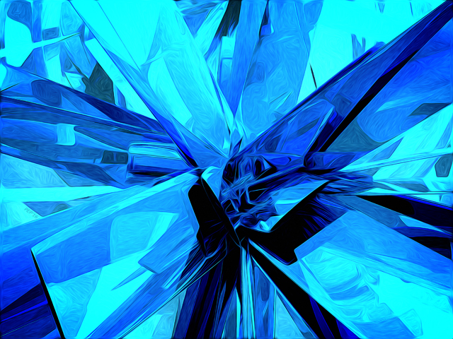 Abstract Shapes In Blue