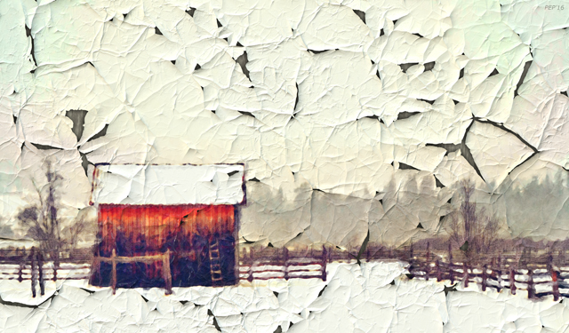 Vintage Country Ranch Landscape
