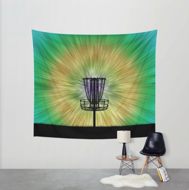Colorful Disc Golf Wall Tapestry