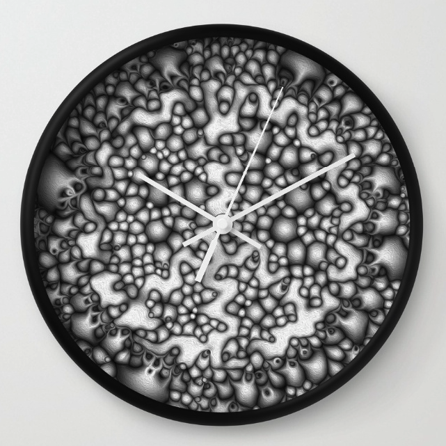 Abstract Macro Shapes Wall Clock