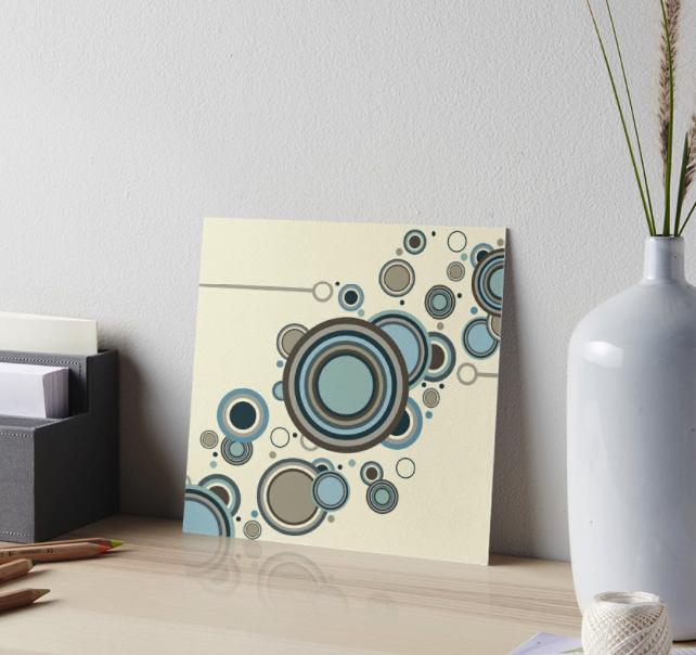 Retro Streaming Circles Gallery Board