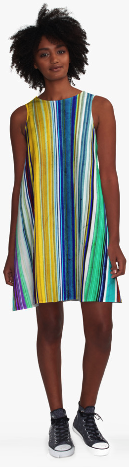 Vintage Stripes A-line Dress