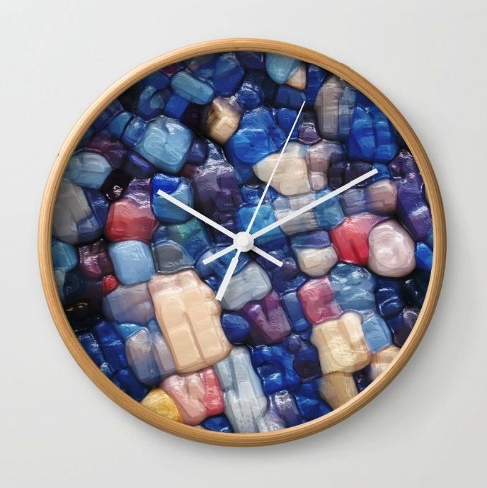Abstract Alphanumeric Typeface Wall Clock