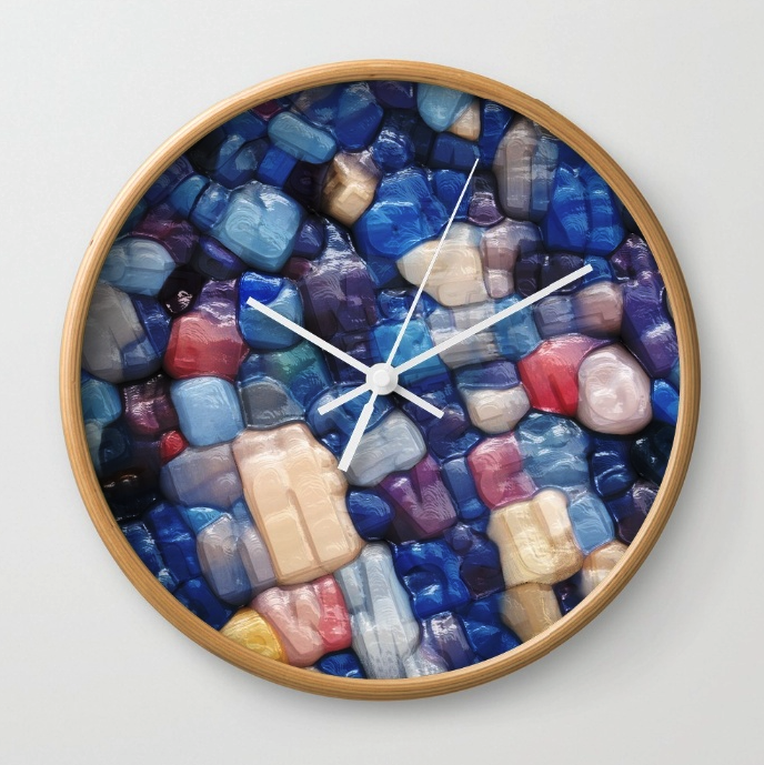 Abstract Alphanumeric Typeface Wall Clock