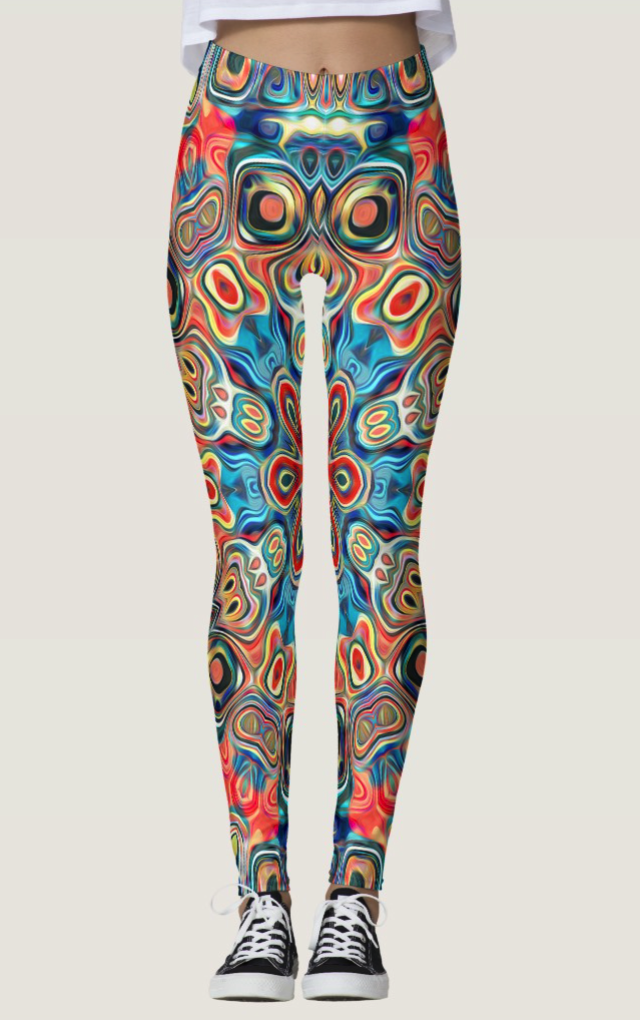 Colorful Abstract Tribal Leggings