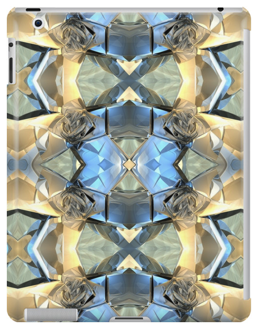 Blue And Gold Pattern iPad Case