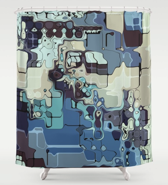 Abstract Pastel Shapes Shower Curtain