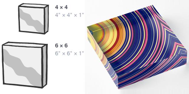 Spectral Sun Rays Acrylic Blocks