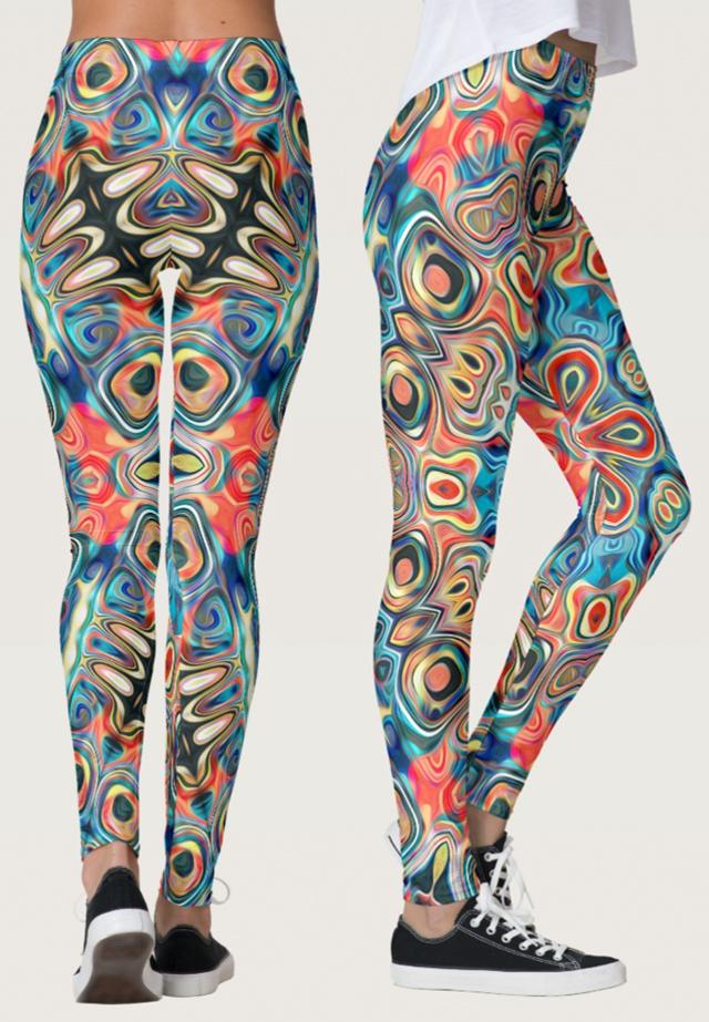 Colorful Tribal Pattern Leggings