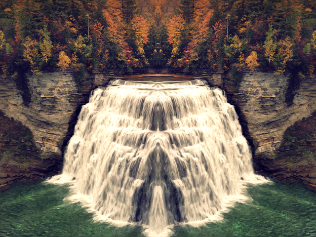Reflection of Spring Falls