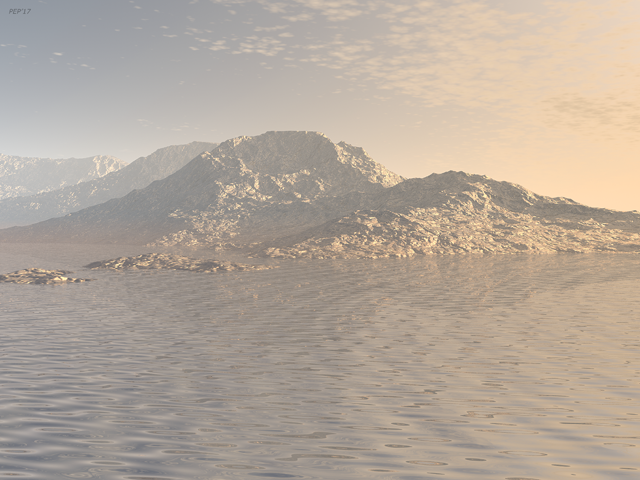 Sunrise Mountains Landscape